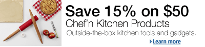 15% Off $50 Purchase of Chef'n Kitchen Tools