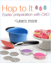Hop to It. Easter preparation with OXO