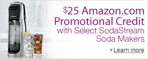 $25 Amazon.com Promotional Credit with Select SodaStream Soda Makers