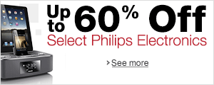 Up To 60% off Select Philips Electronics
