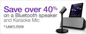 Save over 40% on Philips Bluetooth speakers with wireless Karaoke mic