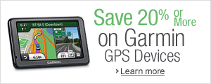 Save 20% or more on Garmin GPS devices