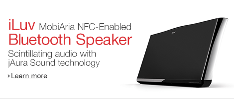 iLuv MobiAria NFC-Enabled Bluetooth Speaker with USB Charging Port
