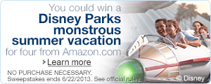 Amazon.com Monstrous Vacation for 4 Sweepstakes