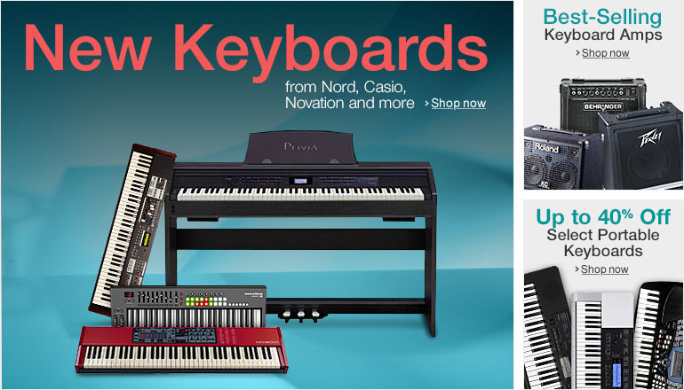 New Keyboards from Novation, Nord and Casio
