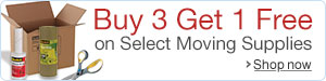 Buy 3 Get 1 Free on Select Moving Supplies