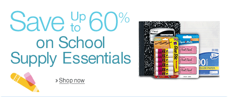 Save up to 60% on School Supply Essentials