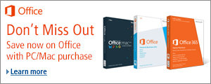 Save $15 on Microsoft Office when you purchase select PC/Mac