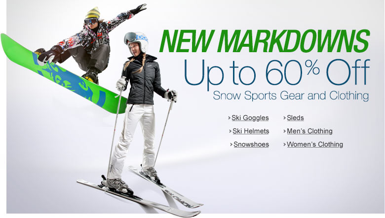 Up to 50% Off Snow Markdowns