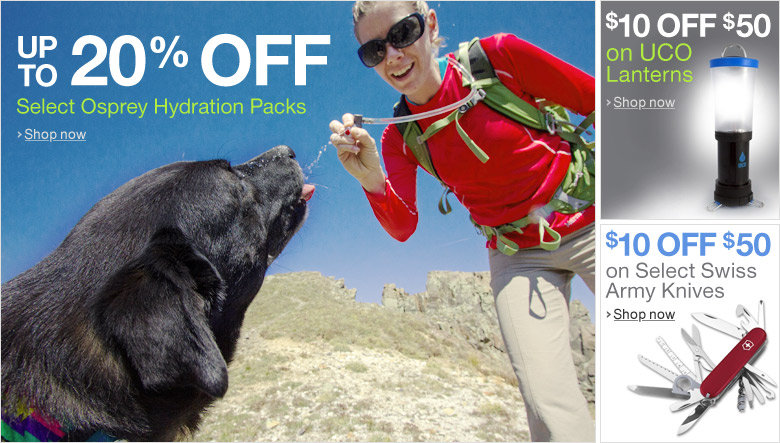 Up to 20% Off Select Osprey Hydration Packs