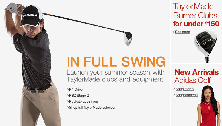 TaylorMade Clubs and Equipment
