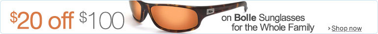 $20 Off $100 on Bolle Sunglasses