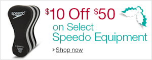 $10 off $50+ Purchase of Select Speedo Training Equipment