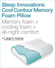 Sleep Innovations Cool Contour Memory Foam Pillow