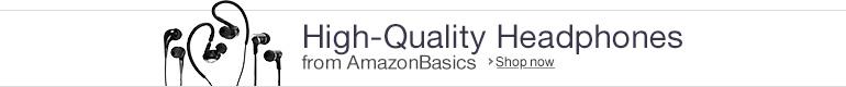 Headphones from AmazonBasics