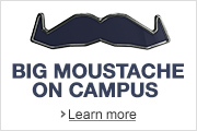 Movember's Big Moustache on Campus