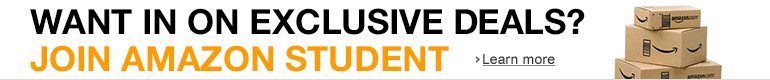 Join Amazon Student to Get Exclusive Deals