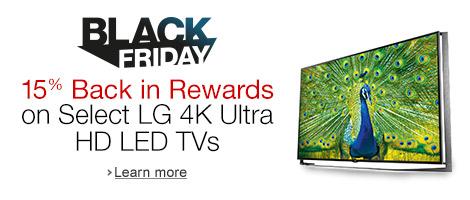 15% Back in Rewards on Select LG 4K Ultra HD LED TVs