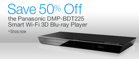 Save Over 40% Off the Panasonic DMP-BDT225 Smart Wi-Fi 3D Blu-Ray Player