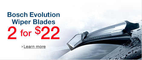 Bosch Evolution Wiper Blades 2 for $22