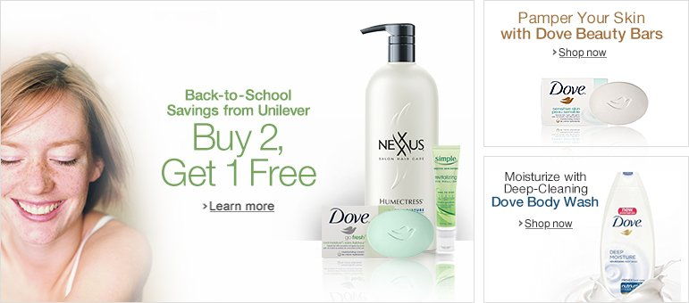 Buy 2, Get 1 Free: Back-to-School Essentials from Unilever