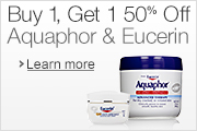 Buy 1, Get 1 50% Aquaphor & Eucerin