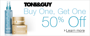 Buy One TONI&GUY Hair Care Item, Get One 50% Off
