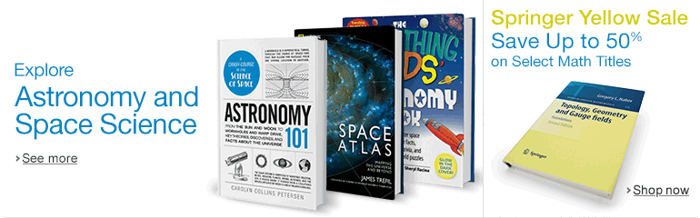 Astronomy Books and Springer Yellow Sale