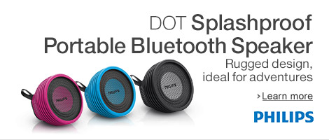 Philips splash-proof Portable Bluetooth Speakers for Music Anywhere