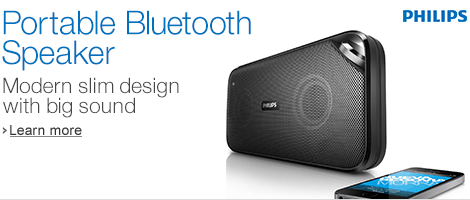 Philips Portable Bluetooth Speakers for Music Anywhere
