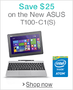 Save $25 on the ASUS T100TA-C1-GR(S)