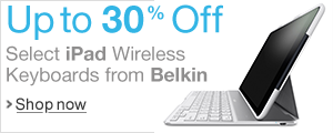 Up to 30% Off Select iPad Wireless Keyboard from Belkin