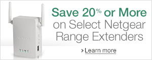 Save 20% Or More on Select Netgear Range Extenders
