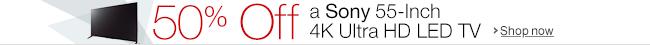50% Off a Sony XBR55X850B