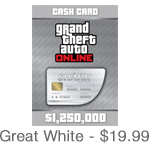 Grand Theft Auto Online Great White Shark Card