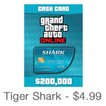 Grand Theft Auto Online Tiger Shark Card