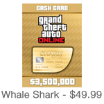 Grand Theft Auto Online Whale Shark Card