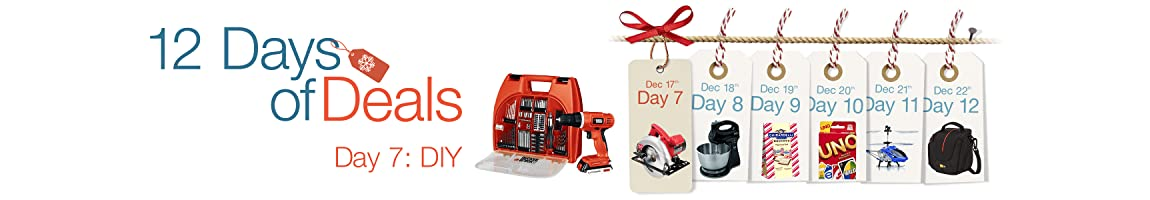 15213 day7 12dod mini hero 3450x600. UX1150 SX1150 V335096588  Amazon 12 Days of Deals   Day 7 is DIY! Lots of great deals!