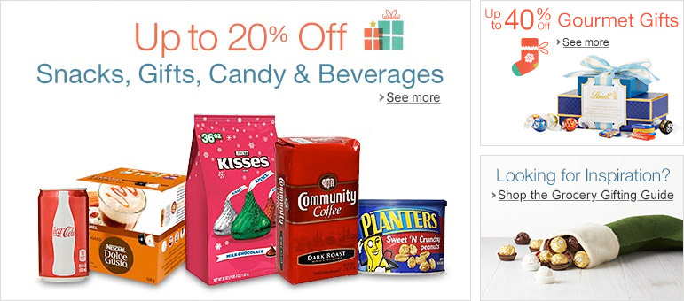 Up to 40% Off Holiday Snacks, Candy, Beverages & Gifts