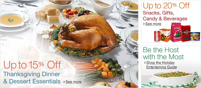 Thanksgiving & Holiday Snacks, Beverages, Candy & Gift Coupons