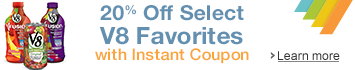 20% Off V8 Favorites with Instant Coupon