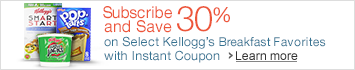 Subscribe & Save 30% on Select Kellogg's Breakfast Favorites with Instant Coupon