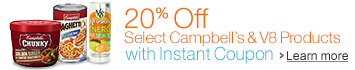 20% Off Select Campbell's & V8 Products with Instant Coupon