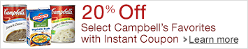 20% Off Select Campbell's and Swanson Favorites with Instant Coupon