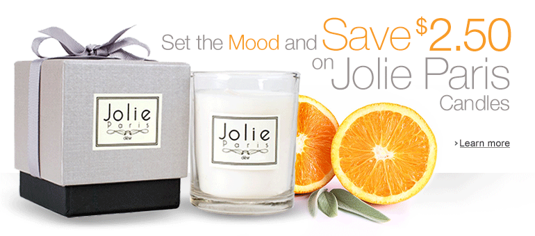 Save $2.50 on Jolie Paris Candles