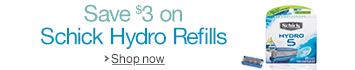 Save on Schick Hydro Refills