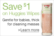 Save on Huggies Wipes