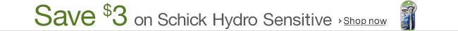 Save $3 on Schick Hydro Razors