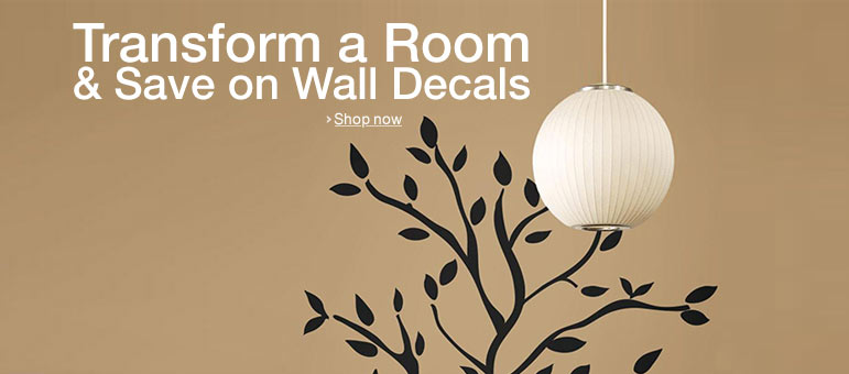 Stick by Your Favorites: Save on Wall Decals
