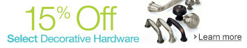 15% Off Select Decorative Hardware